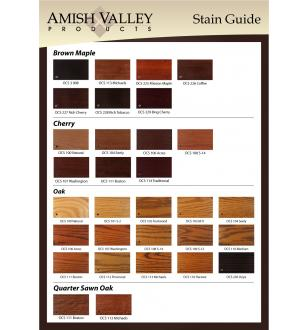 Amish Valley Products Stain Guide