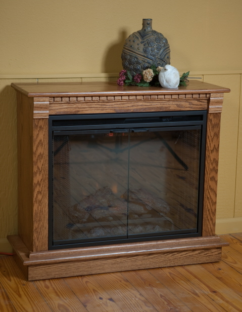 Amish Electric Fireplace Heater Surge Heat Solid Wood Ask Home Design
