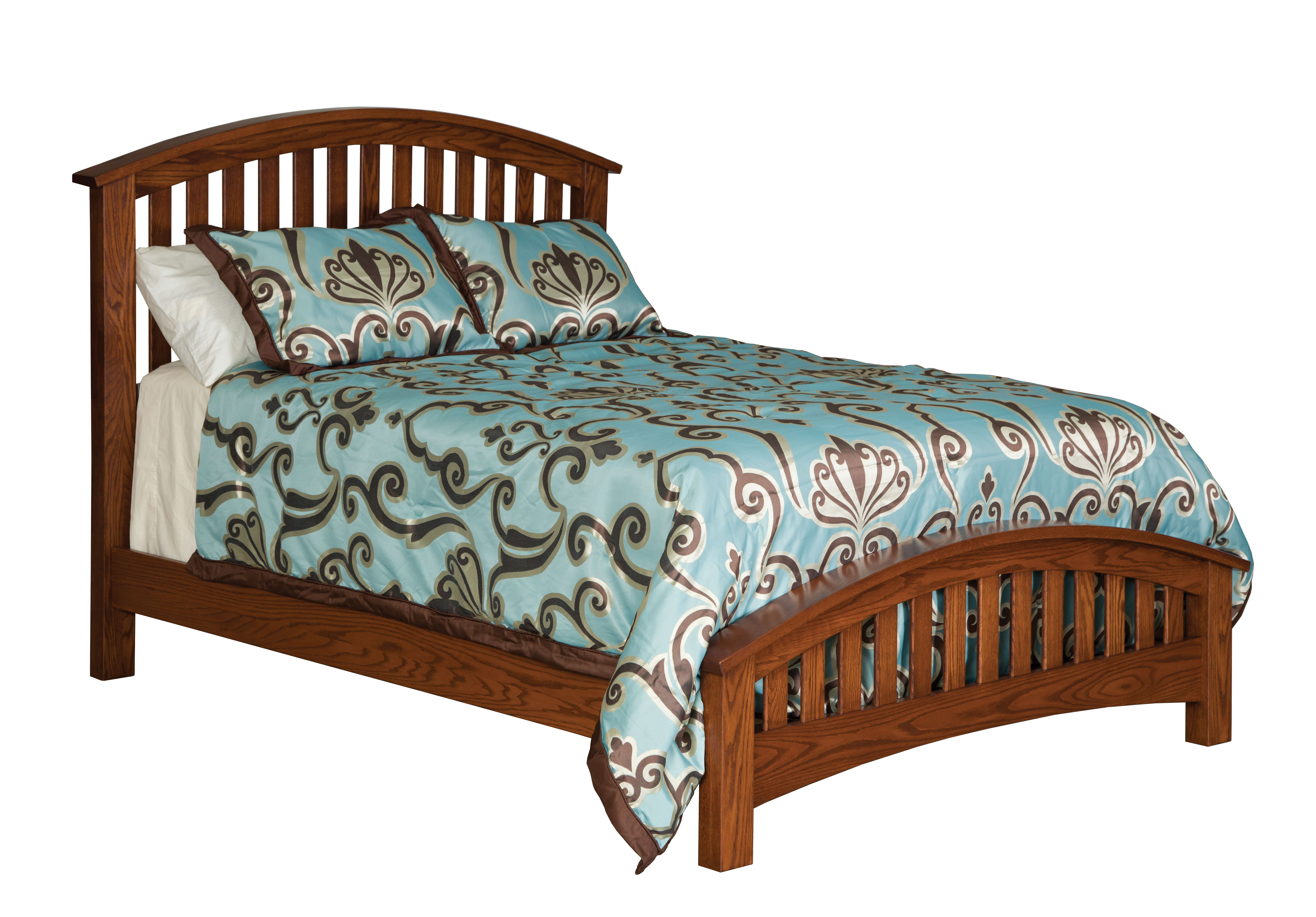 Buckeye economy slat bed amish valley products for Amish furniture home of economy