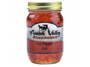 Amish Valley Products Hot Pepper Jam Glass Jar Wedding Food Jelly