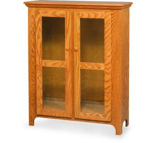 Amish Handcrafted Linen Closet with Glass Doors