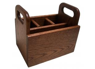 Amish Valley Products Oak Silverware / Napkin Caddy