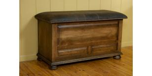 Canyon Creek Leather Collection Amish Blanket Chest