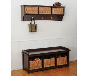 Manhattan West Series Amish Handcrafted Storage Bench