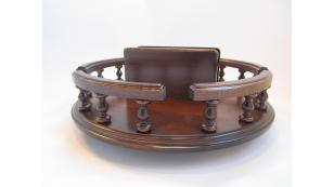 "14"" Amish Handcrafted Lazy Susan with  Napkin Holder"