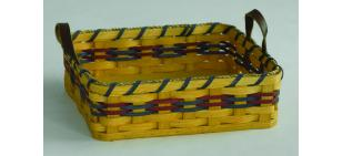 Amish Handwoven Picnic Carry Basket