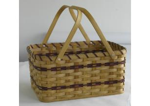 Amish Handwoven Large Picnic Basket w/out Lid