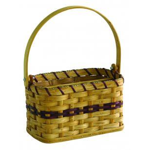 Amish Handwoven Silverware Basket