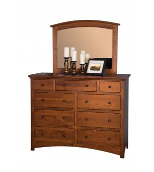 Buckeye Collection Economy Dresser w/ Arched Style Mirror
