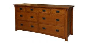 Dutch County Mission 7 Drawer Dresser