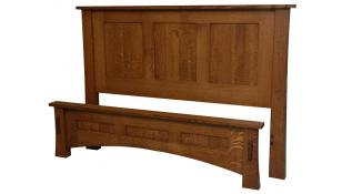 Dutch County Mission Queen Panel Bed w/ low footboard