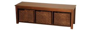Contemporary Hall Bench with Basket Drawers