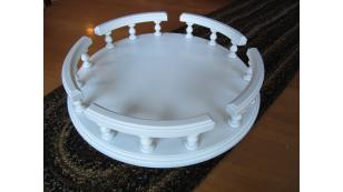 Amish Handcrafted Lazy Susan Turntable White