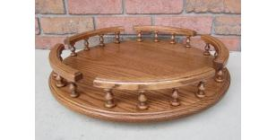 Amish Handcrafted Lazy Susan Turntable Oak