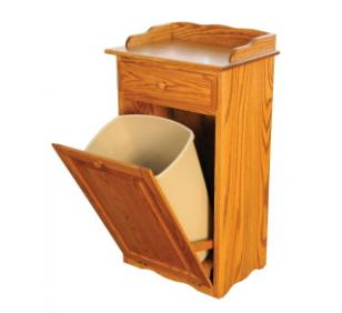 Amish Wood Trash Bin
