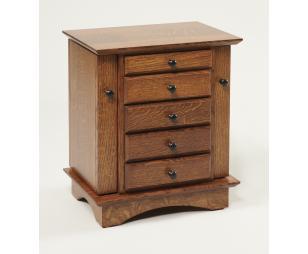 """Quartersawn Oak 20"""" Shaker Dresser Jewlery Cabinet"""