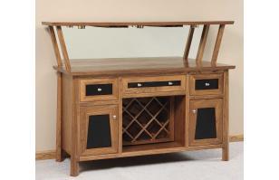 Vancoover WIne Cabinet Amish Furniture
