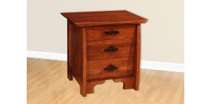 Great River Collection Three Drawer Nightstand