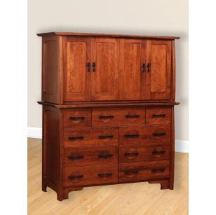 Great River Collection Double Armoire Mule Chest
