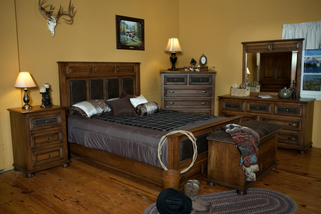Canyon creek leather collection armoire 2 pc unit - Bedroom furniture little rock ar ...