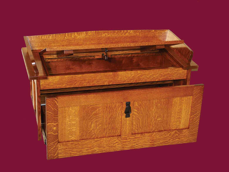 Mission Shoe Storage Chest. Amish Valley Products Stain Guide. $450.00