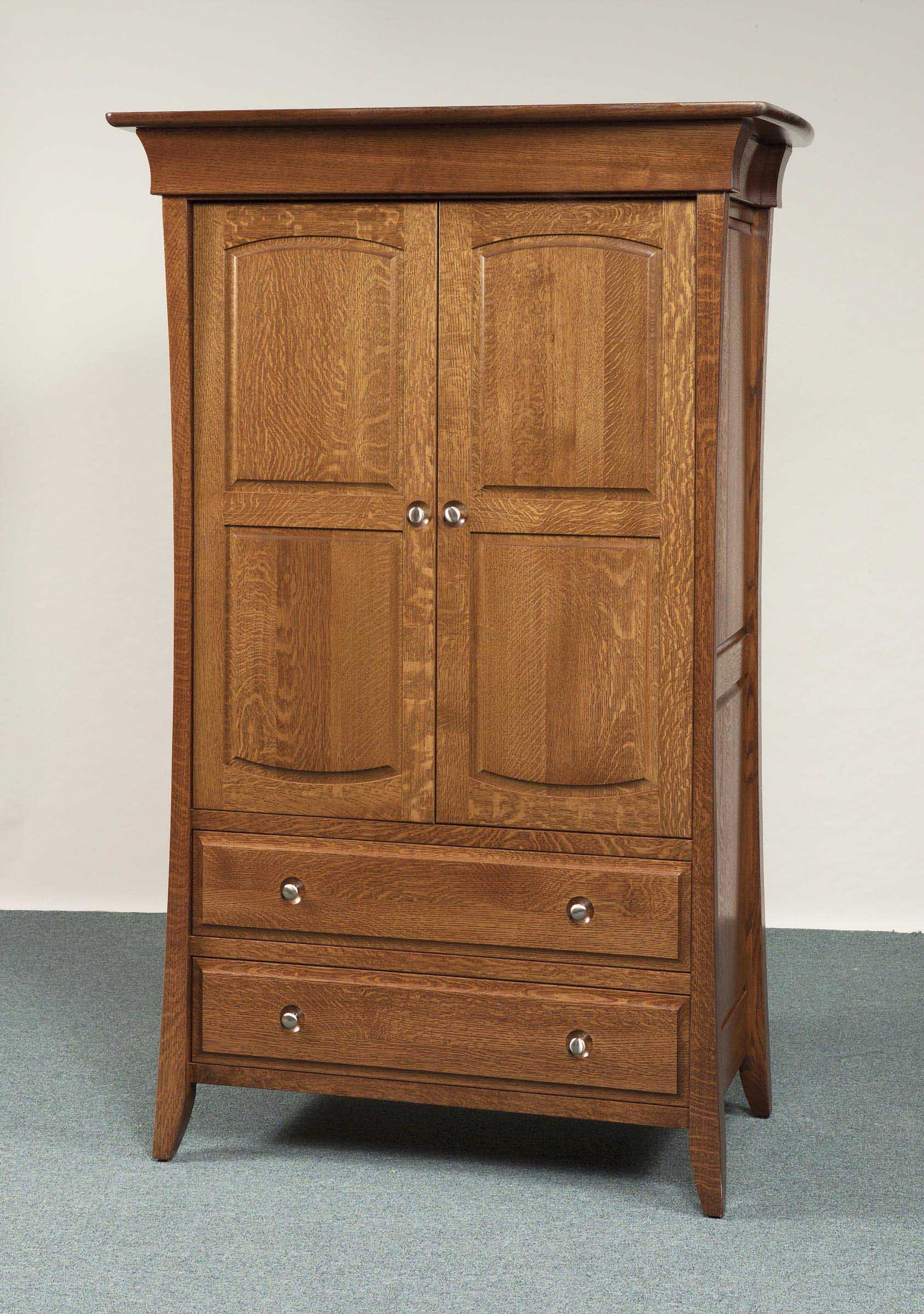 Banbury Collection Long Door Armoire Amish Valley Products